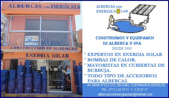 Albercas con energ a solar cuernavaca for Construccion de albercas en cuernavaca