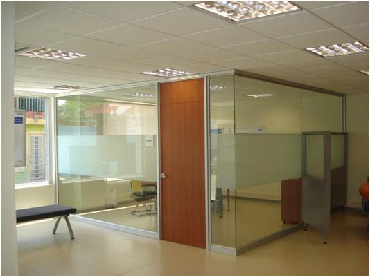 Canceleria de aluminio logay iztacalco for Puertas de cristal para oficina
