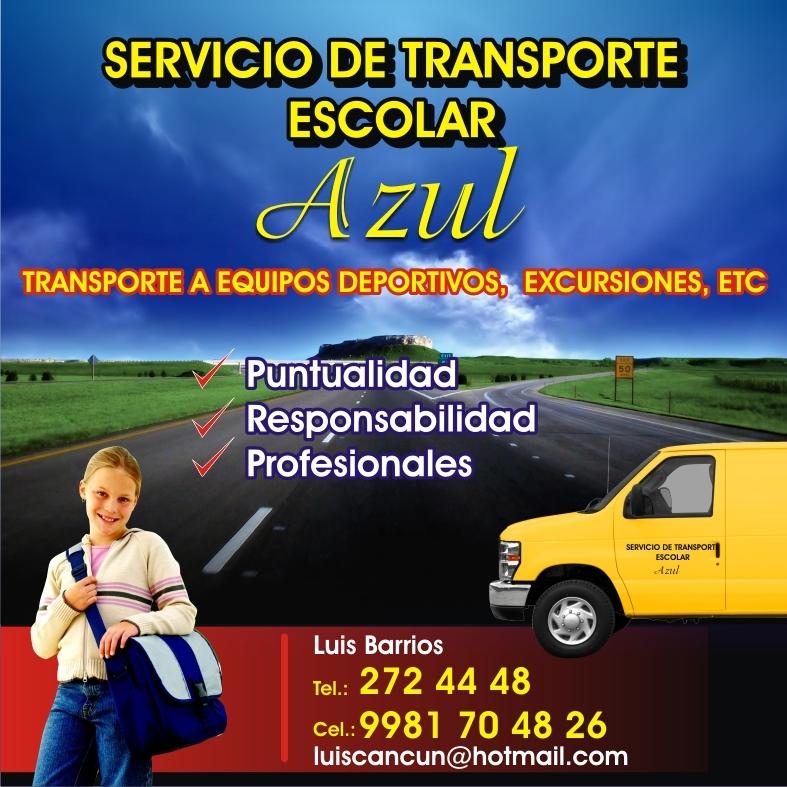 Transporte escolar cancun azul canc n - Servicio de transporte ...