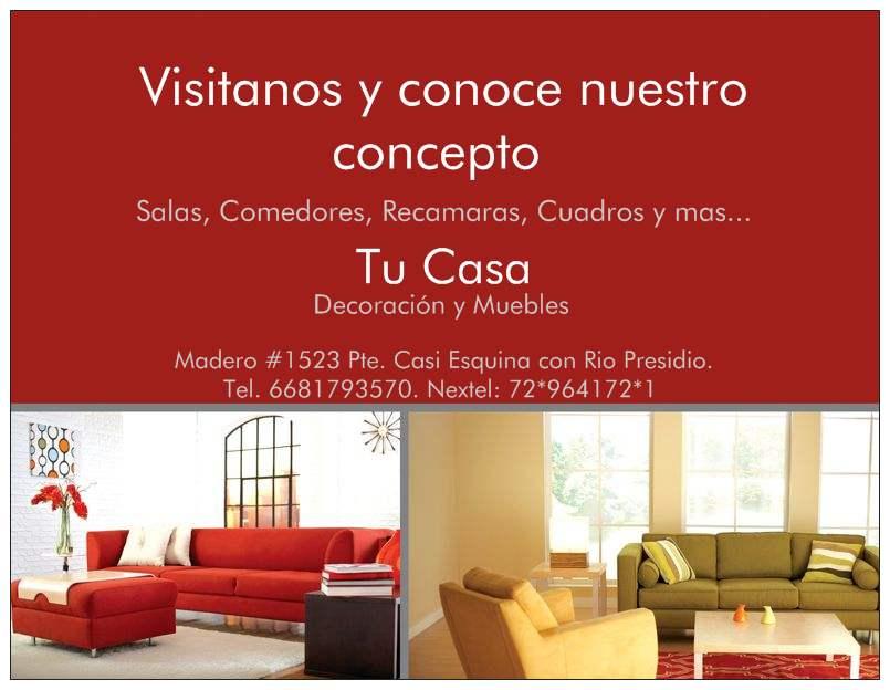 Tu casa decoraci n y muebles los mochis for Casa paulina muebles y decoracion